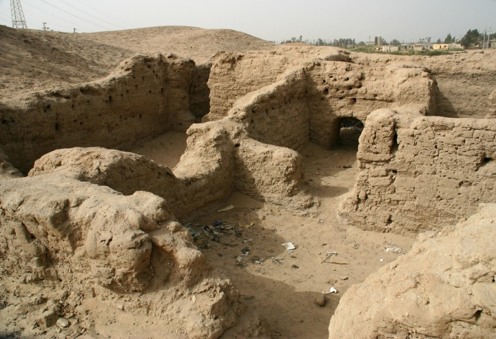 Ancient Egyptian Mud Brick House Remains Of A Mud Brick